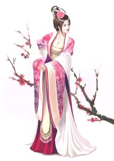 japanese cross stitch patterns | Japanese Beauty 2 Cross Stitch Pattern / Chart Medium 16x11 ...
