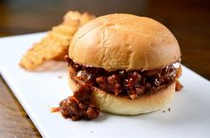 Sriracha BBQ Sloppy Joes Recipe- re[lace beef with ground chicken or turkey