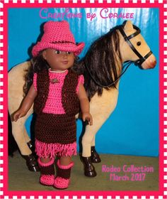 A personal favorite from my Etsy shop https://www.etsy.com/ca/listing/516698591/crocheted-clothes-for-18-doll-181735