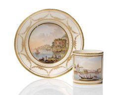 A Naples, Real Fabbrica Ferdinandea cup and saucer.Circa 1790-1800.Collezione Procida Mirabelli di Lauro.Photo Bonhams