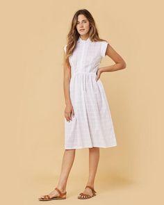 The Piper Dress | (White Plaid)