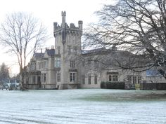Christmas snow... Snow, Mansions, House Styles, Places, Christmas, Home Decor, Xmas, Decoration Home, Manor Houses
