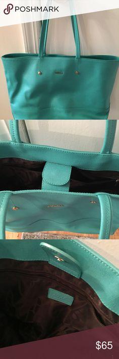 Furla leather tote Sea foam green leather tote bag Furla Bags Totes