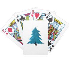 Christmas Tree Xmas Gif Men Women Kids Bicycle Playing Cards - birthday diy gift present custom ideas