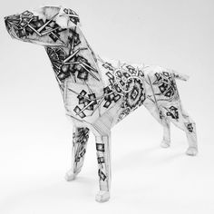 The Gerald dog for Lazerian by Juli Jah, via Behance