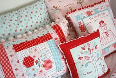 Bed pillows - so sweet! The Simple Life by Tasha Noel