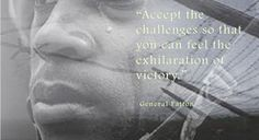 """""""Accept the Challenges so that you can feel the exhilaration of victory. War Quotes, Victorious, Challenges, Inspirational Quotes, Inspire, Feelings, Movie Posters, Movies, Life Coach Quotes"""