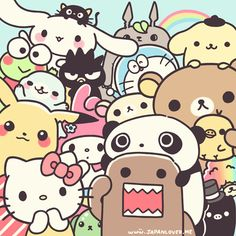 Cartoons!! Hello kitty, domo, ducky momo its all a girl can dream of