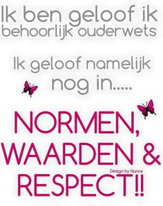 ouderwets..
