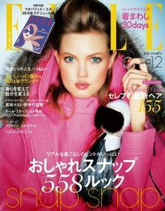 Elle Japón Diciembre 2014: Lindsey Wixson en Fendi by Karl Lagerfeld
