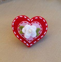 valentine-heart-valentines-day-wool-felt hair clip