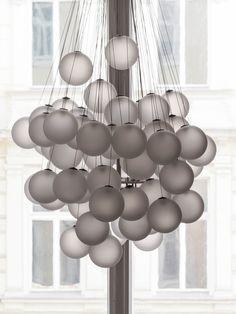 Außergewöhnliche Leuchten - Luceplan Stochastic Lounge Lighting, Lighting Design, Luster, Lightning, Designer, Chandelier, Ceiling Lights, Inspiration, Lamps