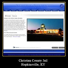 My Web Design Clients: Christian County Jail. Hopkinsville, Kentucky. http://www.ccjail.org/