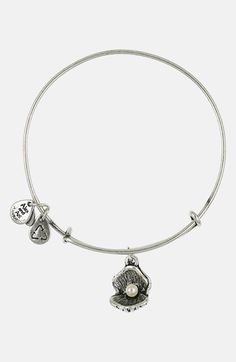 Alex and Ani 'Oyster' Charm Expandable Bangle | I love this one.