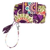Vera Bradley Smartphone Wristlet in Plum Crazy -- love this -  it holds the iphone 5 with a case and all your credit cards and cash -- great for going out