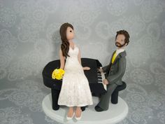 Customized Bride & Groom with a Piano Wedding Cake Topper. $145.00, via Etsy. That is SO SEAN!