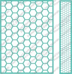 Cuttlebug Honeycomb 5X7 Embossing Folder & Border