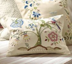 Tessa Floral Embroidered Pillow Covers #potterybarn