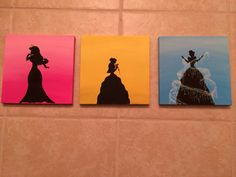 Disney acrylic canvas paintings by mammamaker on Etsy