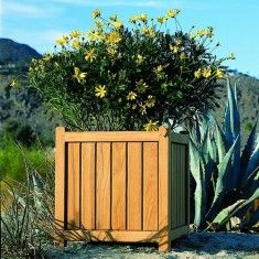 Kingsley Bate Teak Brookside Garden Planter-Available in Three Different Sizes-ON BACKORDER UNTIL JUNE 2015