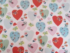 TWIN Fitted Sheet  Flannel HEARTS Ladybugs by WhyteWing on Etsy