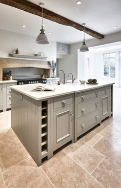 50 Beautiful Hampton Style Kitchen Designs Ideas - Image 4 of 50 Rustic Kitchen Cabinets, Kitchen Interior, Kitchen Decor, Kitchen Ideas, Kitchen Storage, Kitchen Island, Kitchen Drawers, Wine Storage, Interior Modern