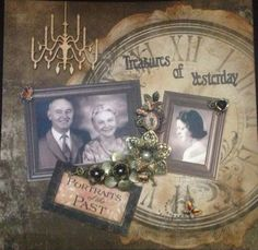 Ancestry Scrapbooking Layouts | heritage layout by Kasima