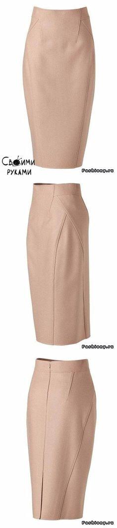 Моделирование юбки - карандаш от Donna Karan.