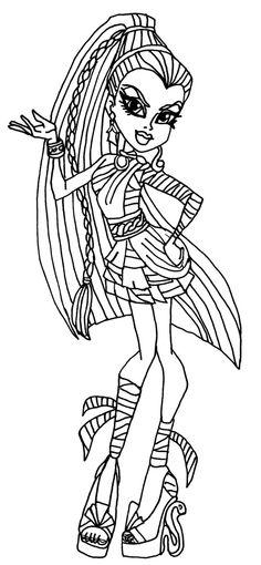 nefera de nile monster high coloring page