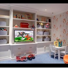 Image result for built in wall unit kids playroom