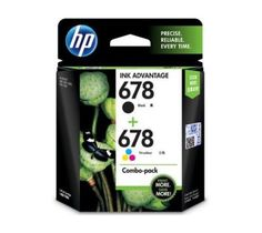 HP 678 Black-Tri-color Original Ink Advantage Cartridges (2-pack)