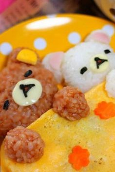 Sleeping bear omlette rice