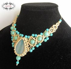 Hey, I found this really awesome Etsy listing at https://www.etsy.com/listing/240865877/beige-and-turquoise-macrame-necklace