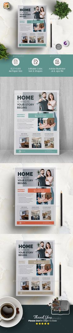 Real Estate Flyer Template, Business Flyer Templates, Presentation Magazine, Business Brochure, Business Flyers, Find Fonts, Real Estate Flyers, Brochure Layout, Corporate Flyer
