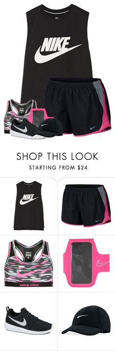 """""""Just went on Nike shopping spree"""" by breezerw ❤ liked on Polyvore featuring NIKE"""