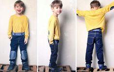 Jeans und Jogger mit Klecks, Herz, und Oval Knie-Aufnähern Gr. 104 - 146 - Schnittmuster und Nähanleitungen bei Makerist