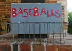 Wooden Baseball sign with metal baseball by GraceFlowsFreely, $25.00