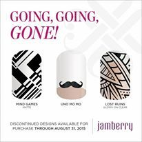 If you like any of these wraps, you must order before August 31, 2015 at 10:59 CDT. https://jgjam.jamberry.com/