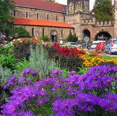 Flowers near the City Gate, Eisenach, Germany  by Colorado Sands, via Flickr