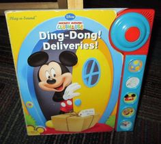 MICKEY MOUSE CLUBHOUSE DING-DONG! DELIVERIES! BOARD PLAY-A-SOUND BOARD BOOK, GUC