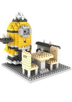 Gem Brick Mini Blocks Minions Maid