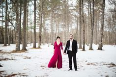 Cozy Winter Engagement Photos in Maine | A. Fogarty Photography | Reverie Gallery Wedding Blog