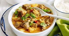 Keep the family warm with this delicious Thai massaman beef curry.