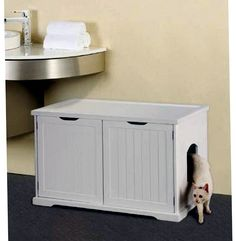 Merry Products Cat Litter Box Enclosure And Bench in Pet Supplies, Cat Supplies, Litter Boxes Cat Litter Box Enclosure, Automatic Litter Box, Litter Box Covers, Wooden Cat, Cat Condo, Cat Supplies, Cat Furniture, Furniture Decor, Adams Furniture