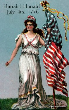 Vintage postcards for the Fourth of July