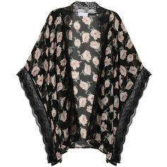 Shop from luxury labels, emerging designers and streetwear brands for both men and women. Chiffon Jacket, Chiffon Kimono, Kimono Jacket, Pink Jacket, Kimono Fashion, Casual Looks, Lace Trim, Floral Prints, My Style