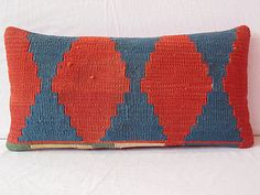 decorative throw pillow Handwoven VINTAGE decorative by DECOLIC, $43.00