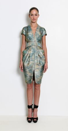 this fabric is so amazing......I love the dress too....Catherine Malandrino