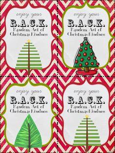 Random Acts of Christmas Kindness tags