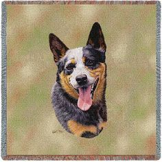 """Artwork by world renowned animal artist, Robert May. 54"""" width x 54"""" length Jacquard woven 100% cotton art tapestry. Not a print. Fringed. Made in the USA. Special Delivery/Handling: If not in stock,"""